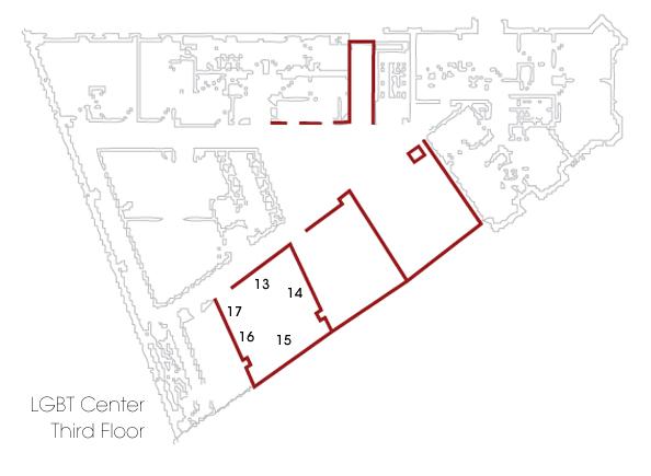 map of 3rd floor gallery