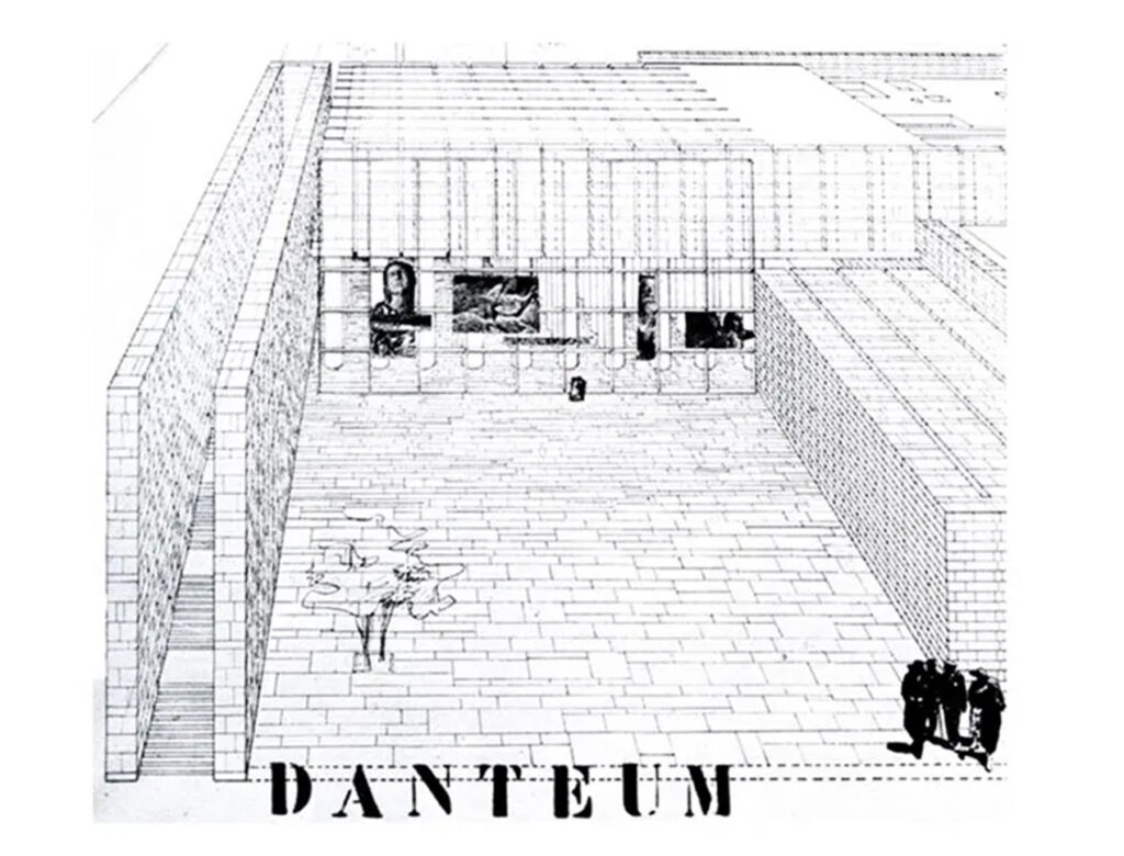 Il Danteum courtyard