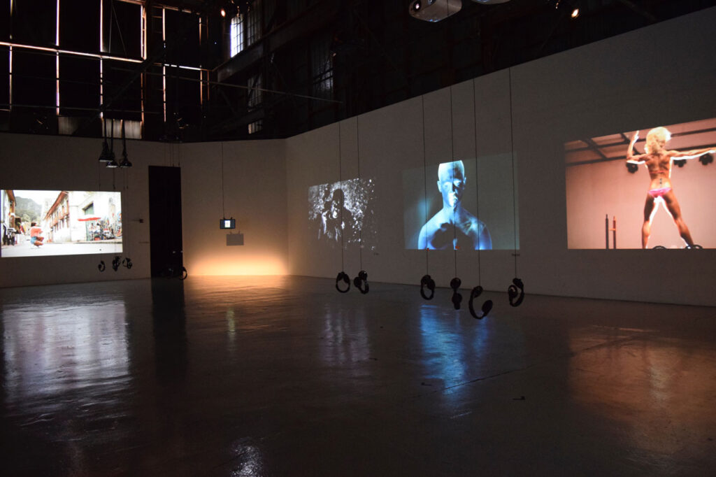 installation view #selfie video exhibition