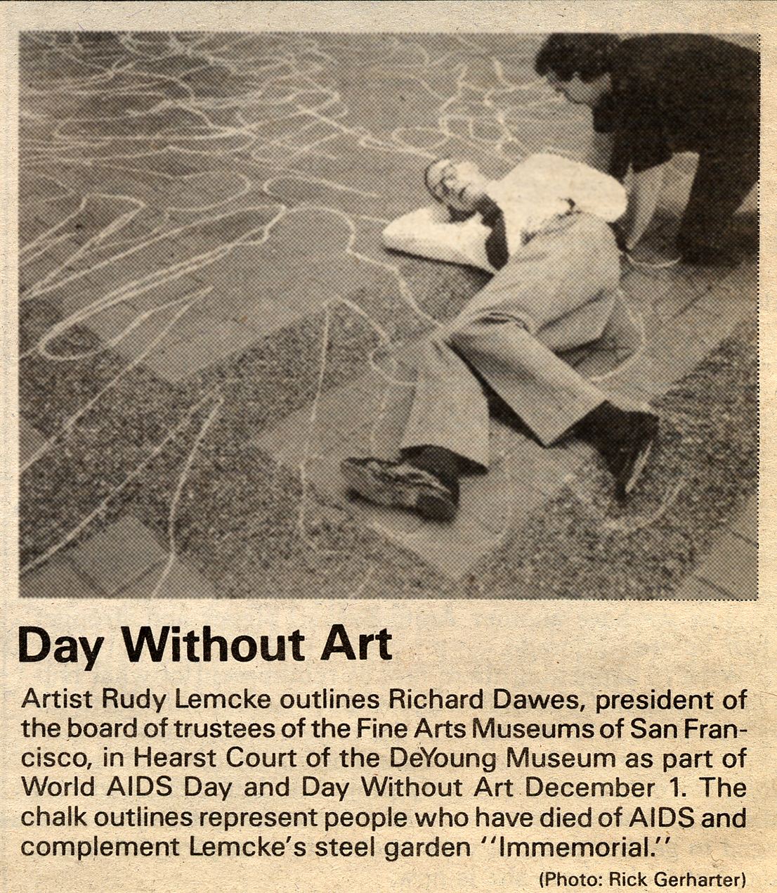 Press for Day Without Art 1992