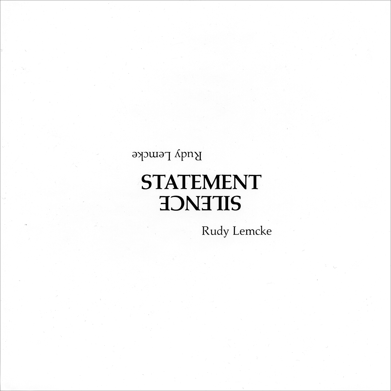 Statement / Silence